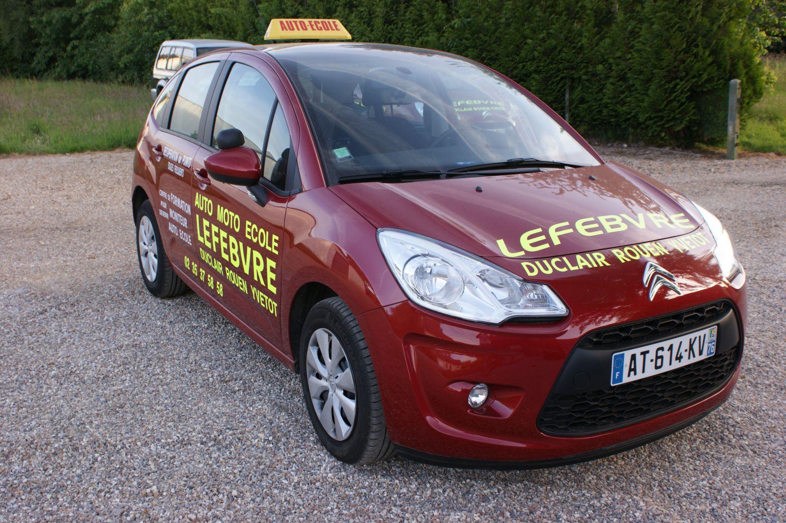 voiture auto école Lefebvre